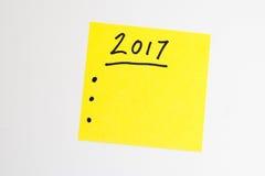 Para hacer la lista por el Año Nuevo en amarillo Foto de archivo libre de regalías