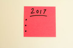 Para hacer la lista por el Año Nuevo en rosa Imágenes de archivo libres de regalías