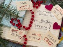 PARA HACER la lista transformada en las resoluciones del Año Nuevo Fotografía de archivo