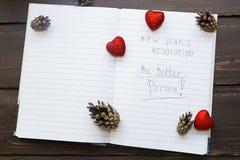 Para hacer la lista transformada en nuevo Year& x22; resoluciones de s Imágenes de archivo libres de regalías
