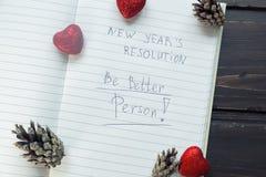 Para hacer la lista transformada en nuevo Year& x22; resoluciones de s tono Fotos de archivo libres de regalías