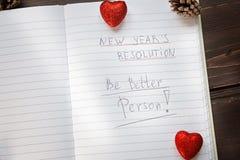 Para hacer la lista transformada en nuevo Year& x22; resoluciones de s Imagen de archivo libre de regalías
