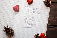 Para hacer la lista transformada en nuevo Year& x22; resoluciones de s Fotografía de archivo libre de regalías