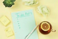 Para hacer la lista y metas Imagen de archivo libre de regalías