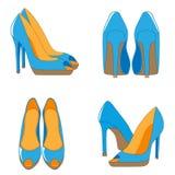 Para heeled buty Obrazy Royalty Free