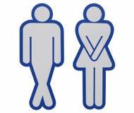 Para homens e mulheres ilustração do vetor