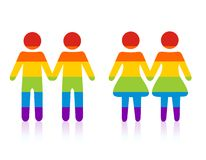 para homoseksualista Obrazy Stock