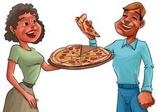 Para i pizza Obraz Royalty Free