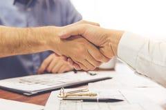 Para i pośrednik handlu nieruchomościami Obrazy Stock