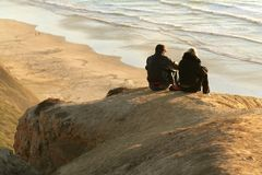 para jest czarna plażowa Fotografia Stock