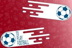 Para jogar o fundo colorido moderno do futebol com bola ilustração do vetor