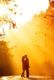 para kisssing Zdjęcie Royalty Free