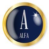 A para la alfa ilustración del vector