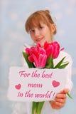 Para la mejor mamá del mundo Foto de archivo libre de regalías