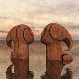 Para la misma madera Imágenes de archivo libres de regalías