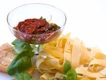 Para las pastas italianas Imagen de archivo libre de regalías