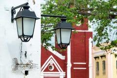 Para latarnie uliczne Obraz Stock
