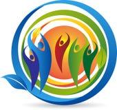 Para liścia logo ilustracji
