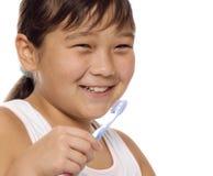 Para limpiar los dientes. Imagen de archivo libre de regalías