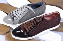 Para luksusowi rzemienni buty, handmade Gatunku imię Zdjęcia Royalty Free