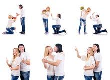 Para mężczyzna i kobieta Zdjęcia Royalty Free