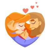 Para młody człowiek i kobieta w miłości Zdjęcie Stock