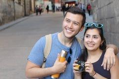 Para ma wielkiego czas za granicą zdjęcia royalty free