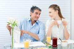 Para Ma Zdrowego śniadanie Obraz Royalty Free