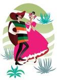 para meksykanin royalty ilustracja