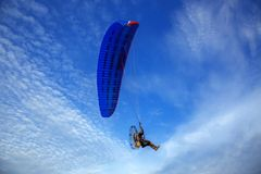 Para Motor is flying in the sky. royalty free stock images
