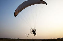 Para motor glider. On the sky of Thailand stock image