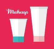 Para mujer componga y los cosméticos Imagen de archivo