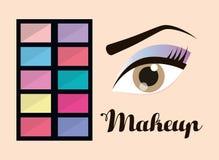 Para mujer componga y los cosméticos Imagen de archivo libre de regalías