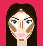 Para mujer componga y los cosméticos Imágenes de archivo libres de regalías