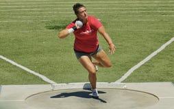 Para mujer lanzamiento de peso en el Mt 2016 Retransmisiones del saco Fotografía de archivo