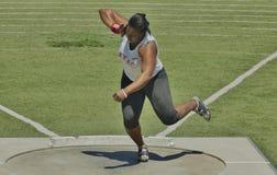 Para mujer lanzamiento de peso en el Mt 2016 Retransmisiones del saco Fotos de archivo