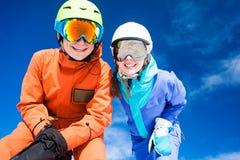Para na góra wakacje Dolomiti Superski, Zdjęcie Royalty Free