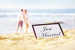 Para na plaży Obrazy Stock