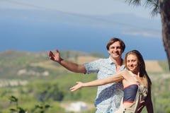 Para na wzgórzu Zdjęcia Royalty Free