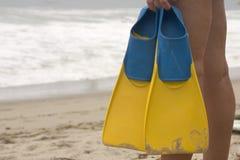 Para nadar ou não nadar Fotos de Stock Royalty Free