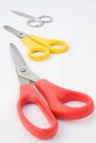 para nożyce trzy Zdjęcia Stock