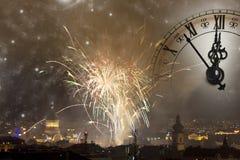 Para Noche Vieja que espera Foto de archivo libre de regalías