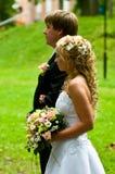 para nowożeńcy Zdjęcia Royalty Free