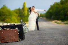 para nowożeńcy drogę Obraz Stock