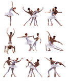 Para nowożytni baletniczy tancerze zdjęcie royalty free