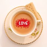 Para o amor do chá Imagens de Stock