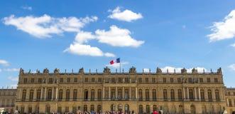 Para o oeste parte dianteira, palácio de Versalhes, França Imagem de Stock
