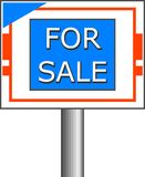 Para o sinal da venda ilustração royalty free