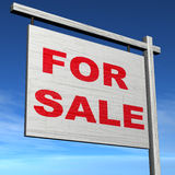 Para o sinal da venda Ilustração Stock