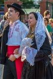 Para od Portugalia w tradycyjnym kostiumu Zdjęcia Royalty Free